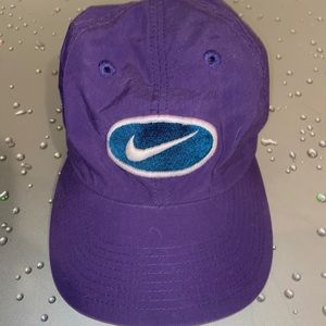 Nike Purple Baseball Cap Hat w/White & Blue